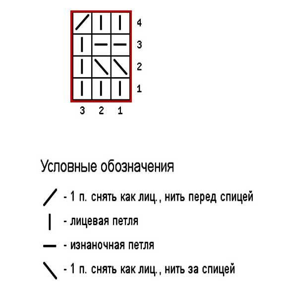 узор-соты-вяжем-по-схеме3